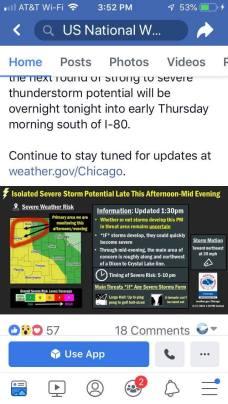 April 17 T storms