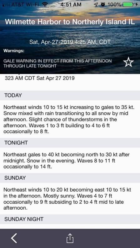 April 27 marine forecast